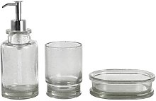 Argos Home Bubble Glass Bathroom Accessory Set -
