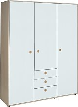 Argos Home Camden 3 Door 3 Drawer Wardrobe - White