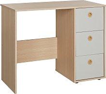 Argos Home Camden 3 Drawer Desk - Grey & Acacia