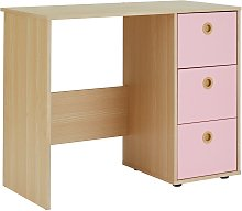 Argos Home Camden 3 Drawer Desk - Pink