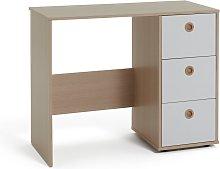 Argos Home Camden 3 Drawer Desk - White & Acacia