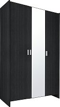 Argos Home Capella 3 Door Mirrored Wardrobe - Black