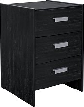 Argos Home Capella 3 Drawer Bedside Table - Black
