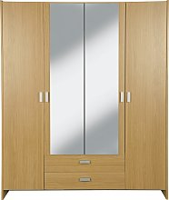 Argos Home Capella 4 Dr 2 Drw Mirrored Wardrobe -