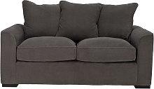 Argos Home Carson 3 Seater Fabric Sofa - Grey