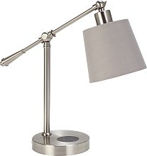 Argos Home Chargeable Desk Lamp - Brushed Chrome