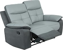 Argos Home Charles 2 Seater Leather Mix Recliner