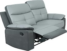 Argos Home Charles 3 Seater Leather Mix Recliner
