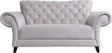 Argos Home Chelsea 2 Seater Velvet Sofa - Grey