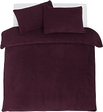 Argos Home Cherry Fleece Bedding Set - Double