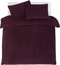 Argos Home Cherry Fleece Bedding Set - Kingsize