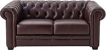 Argos Home Chesterfield 2 Seater Leather Sofa -