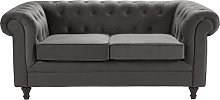 Argos Home Chesterfield 2 Seater Velvet Sofa -