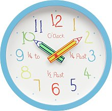 Argos Home Children's Clock - Blue