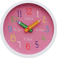 Argos Home Children's Clock - Pink