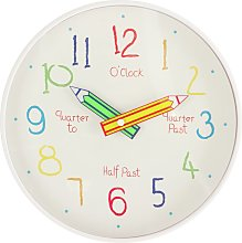 Argos Home Children's Tell the Time Wall Clock