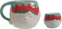 Argos Home Christmas Elf Mug and Egg Cup