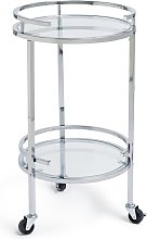 Argos Home Chrome and Glass Drinks Trolley