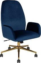 Argos Home Clarice Velvet Office Chair - Blue