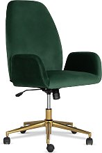 Argos Home Clarice Velvet Office Chair - Green