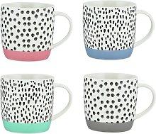 Argos Home Colour Dash Set of 4 Mugs