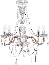 Argos Home Como Glass Chandelier - Smoked