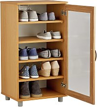 Argos Home Contemporary Shoe Storage Cabinet - Oak