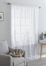 Argos Home Country Floral Voile Curtain Panel