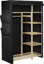 Argos Home Covered Double Wardrobe - Black