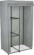 Argos Home Covered Single Wardrobe with Storage -