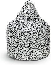 Argos Home Dalmation Print Fur Beanbag - Black and