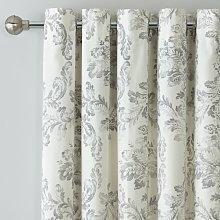 Argos Home Damask Lined Eyelet Curtains - Grey
