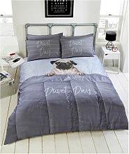 Argos Home Daytime Pug Bedding Set -Single