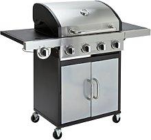 Argos Home Deluxe 4 Burner Steel Gas BBQ