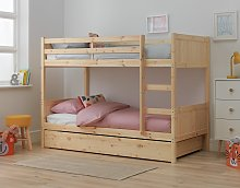 Argos Home Detachable Bunk Bed Frame with Drawer -