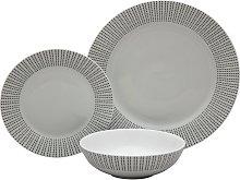 Argos Home Ditsy Dot Porcelain 12 Piece Dinner Set