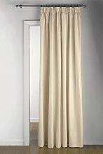Argos Home Door Thermal Pencil Pleat Curtain -
