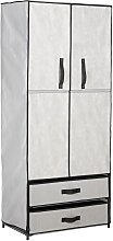 Argos Home Double Metal Framed Fabric Wardrobe -