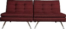Argos Home Duo 2 Seater Clic Clac Sofa Bed - Red