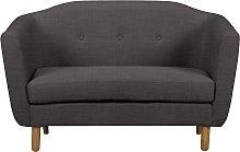 Argos Home Elin 2 Seater Fabric Sofa - Charcoal