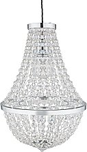 Argos Home Empire Chandelier Light - Chrome