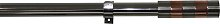 Argos Home Ext Contrast Band Curtain Pole - Silver
