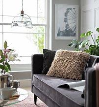 Argos Home Eyelash Luxe Cushion - Blush Pink