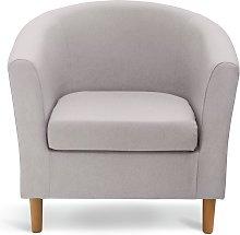 Argos Home Fabric Tub Chair - Light Grey