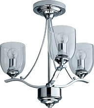 Argos Home Fae 3 Light Glass Ceiling Fitting -