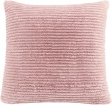 Argos Home Faux Fur Ribbed Cushion - Blush Pink