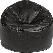 Argos Home Faux Leather Bean Bag Chair - Black