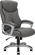 Argos Home Faux Leather Office Chair - Grey