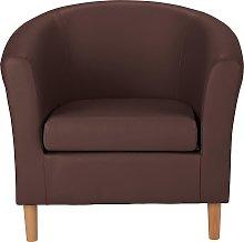 Argos Home Faux Leather Tub Chair - Brown