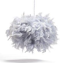 Argos Home Feather Pendant Shade - Grey